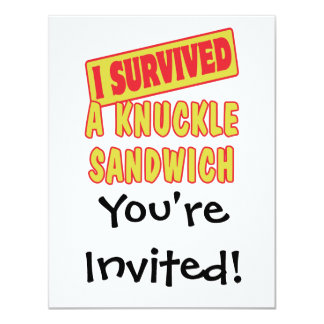 I SURVIVED A KNUCKLE SANDWICH CARD