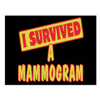 I SURVIVED A MAMMOGRAM POSTCARD