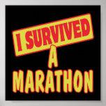 I SURVIVED A MARATHON POSTER