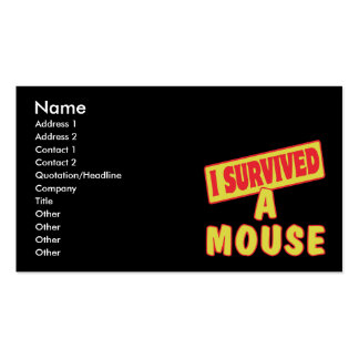 I SURVIVED A MOUSE Double-Sided STANDARD BUSINESS CARDS (Pack OF 100)