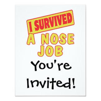 I SURVIVED A NOSE JOB CARD