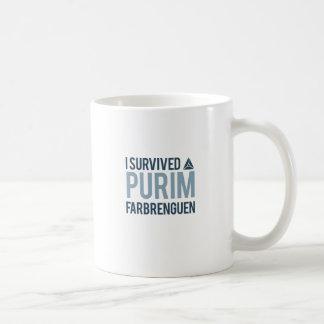 I survived a purim farbrengen coffee mug