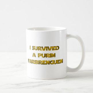 I survived a Purim Farbrenguen Coffee Mug
