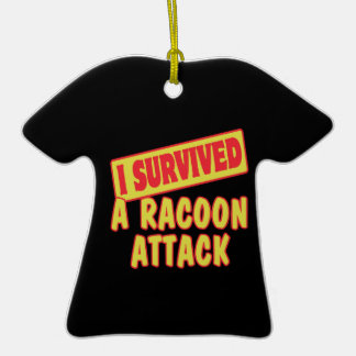 I SURVIVED A RACOON ATTACK CHRISTMAS TREE ORNAMENT