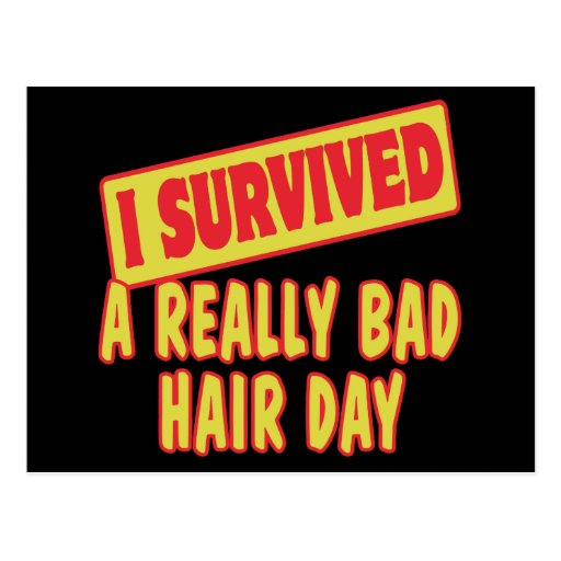 I SURVIVED A REALLY BAD HAIR DAY POSTCARD