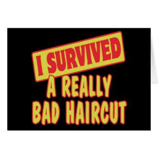 I SURVIVED A REALLY BAD HAIRCUT GREETING CARD