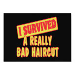 I SURVIVED A REALLY BAD HAIRCUT 5X7 PAPER INVITATION CARD