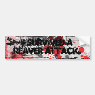 I Survived a Reaver Attack Bumper Sticker