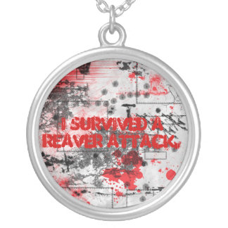I Survived a Reaver Attack Round Necklace