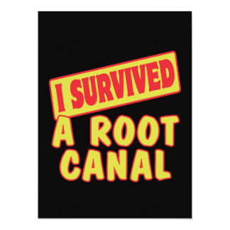 I SURVIVED A ROOT CANAL CUSTOM ANNOUNCEMENT