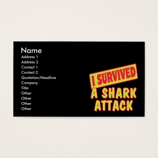 I SURVIVED A SHARK ATTACK BUSINESS CARD