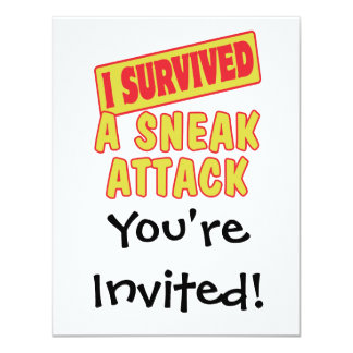 I SURVIVED A SNEAK ATTACK CARD