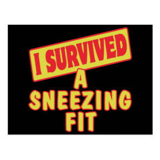 I SURVIVED A SNEEZING FIT POSTCARD