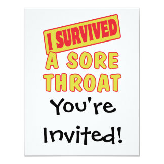 I SURVIVED A SORE THROAT CARD