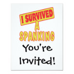 I SURVIVED A SPANKING 4.25X5.5 PAPER INVITATION CARD