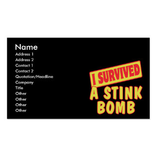 I SURVIVED A STINK BOMB BUSINESS CARD
