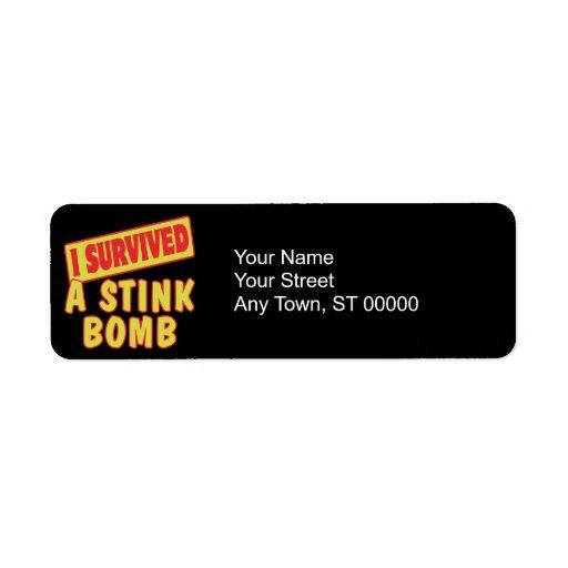 I SURVIVED A STINK BOMB RETURN ADDRESS LABELS