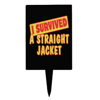 I SURVIVED A STRAIGHT JACKET CAKE TOPPERS