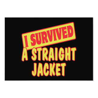 I SURVIVED A STRAIGHT JACKET PERSONALIZED ANNOUNCEMENTS