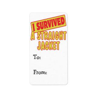 I SURVIVED A STRAIGHT JACKET LABEL