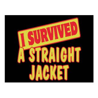 I SURVIVED A STRAIGHT JACKET POSTCARD