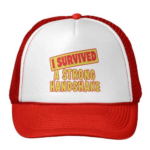 I SURVIVED A STRONG HANDSKAKE HATS