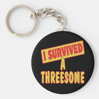 I SURVIVED A THREESOME KEYCHAIN