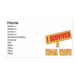 I SURVIVED A TIDAL WAVE Double-Sided STANDARD BUSINESS CARDS (Pack OF 100)