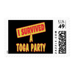 I SURVIVED A TOGA PARTY POSTAGE STAMP