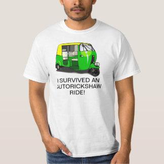 I SURVIVED AN AUTORICKSHAW RIDE tshirt