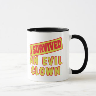 I SURVIVED AN EVIL CLOWN MUG