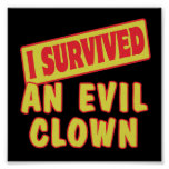 I SURVIVED AN EVIL CLOWN POSTER