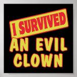I SURVIVED AN EVIL CLOWN POSTER