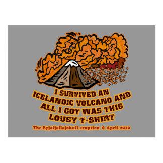 I Survived an Icelandic Volcano Tshirts and Mugs Postcard