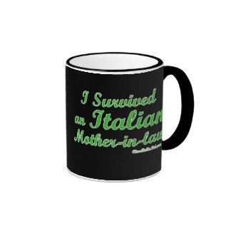 I Survived An Italian Mother-In-Law Ringer Coffee Mug