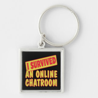 I SURVIVED AN ONLINE CHATROOM KEYCHAIN