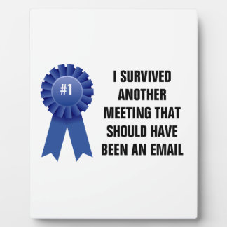 I survived another meeting that should have been a photo plaque
