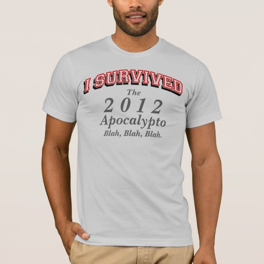 I survived (apoc3) T-shirts, Red text T-Shirt