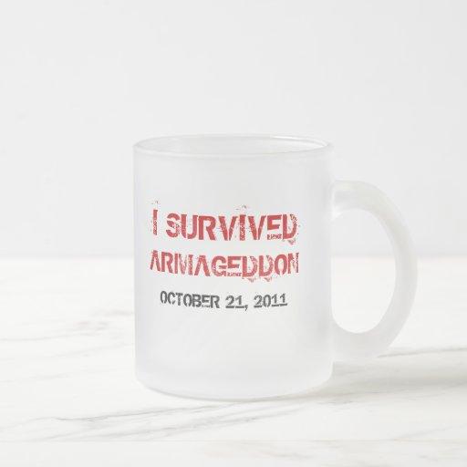 I Survived Armageddon Frosted Mug