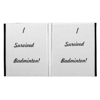 I survived badminton! iPad folio cover