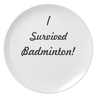 I survived badminton! party plates