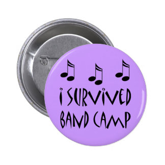 I Survived Band Camp Buttons