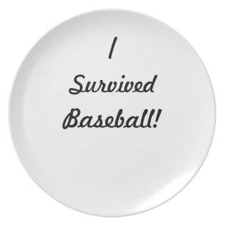 I survived baseball! plates