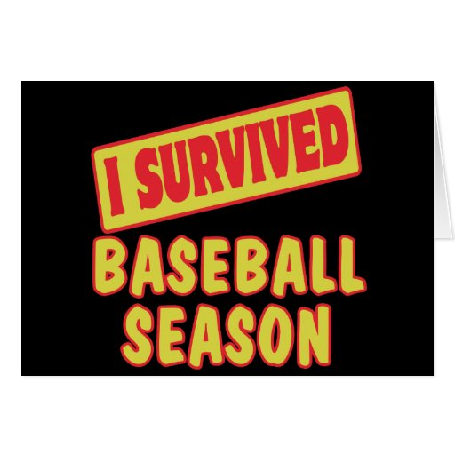I SURVIVED BASEBALL SEASON CARDS