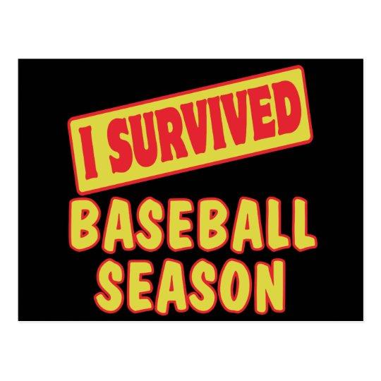 I SURVIVED BASEBALL SEASON POSTCARD