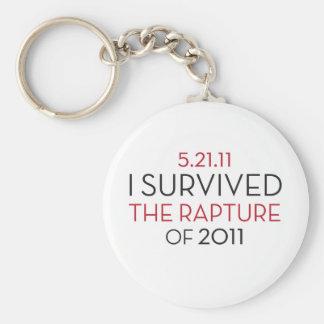 I Survived... Basic Round Button Keychain