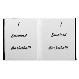 I survived basketball! iPad folio cases