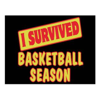 I SURVIVED BASKETBALL SEASON POSTCARD