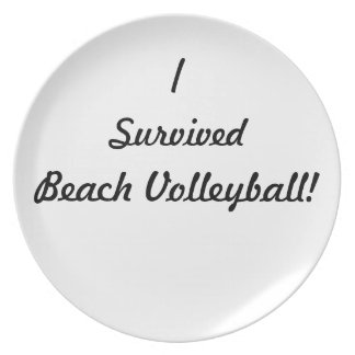 I survived beach volleyball! party plates