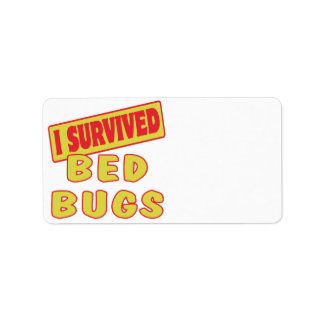 I SURVIVED BED BUGS ADDRESS LABEL